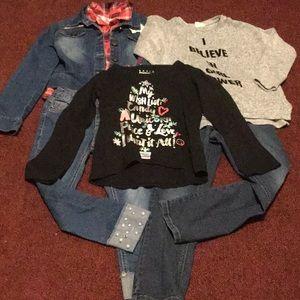 Zara Girls, Justice Shirts, Vigoss, Justice Jeans